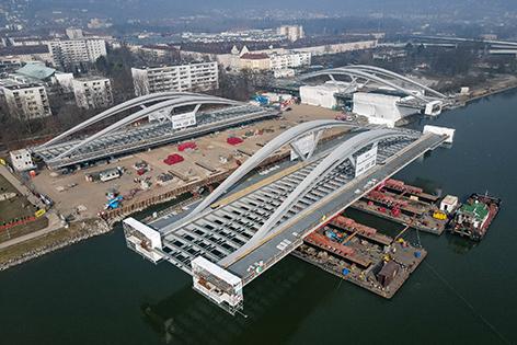 Linzer Donaubrücke Tragwerke Aufbau