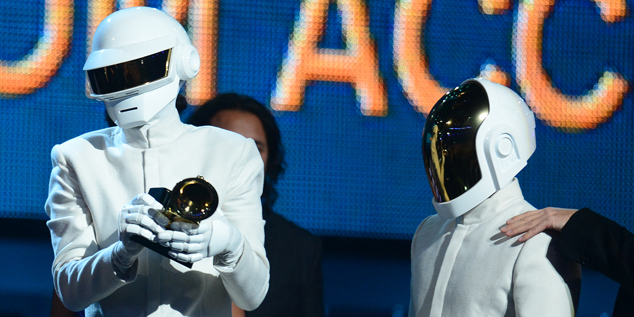 Daft Punk nehmen Preis entgegen