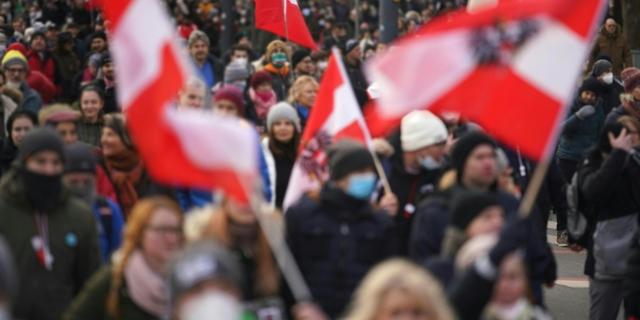 Demonstration gegen die Corona-Maßnahmen in Wien