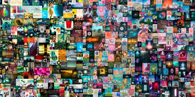 Ausschnitt einer digitalen Collage des Amerikanischen Künstlers Beeple