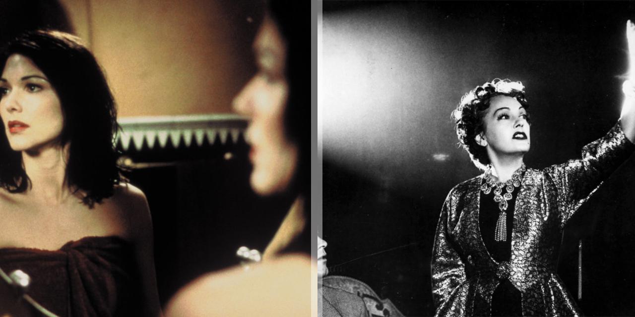 """Collage mit Szenenbild aus """"Sunset Boulevard"""" und """"Mulholland Drive"""""""