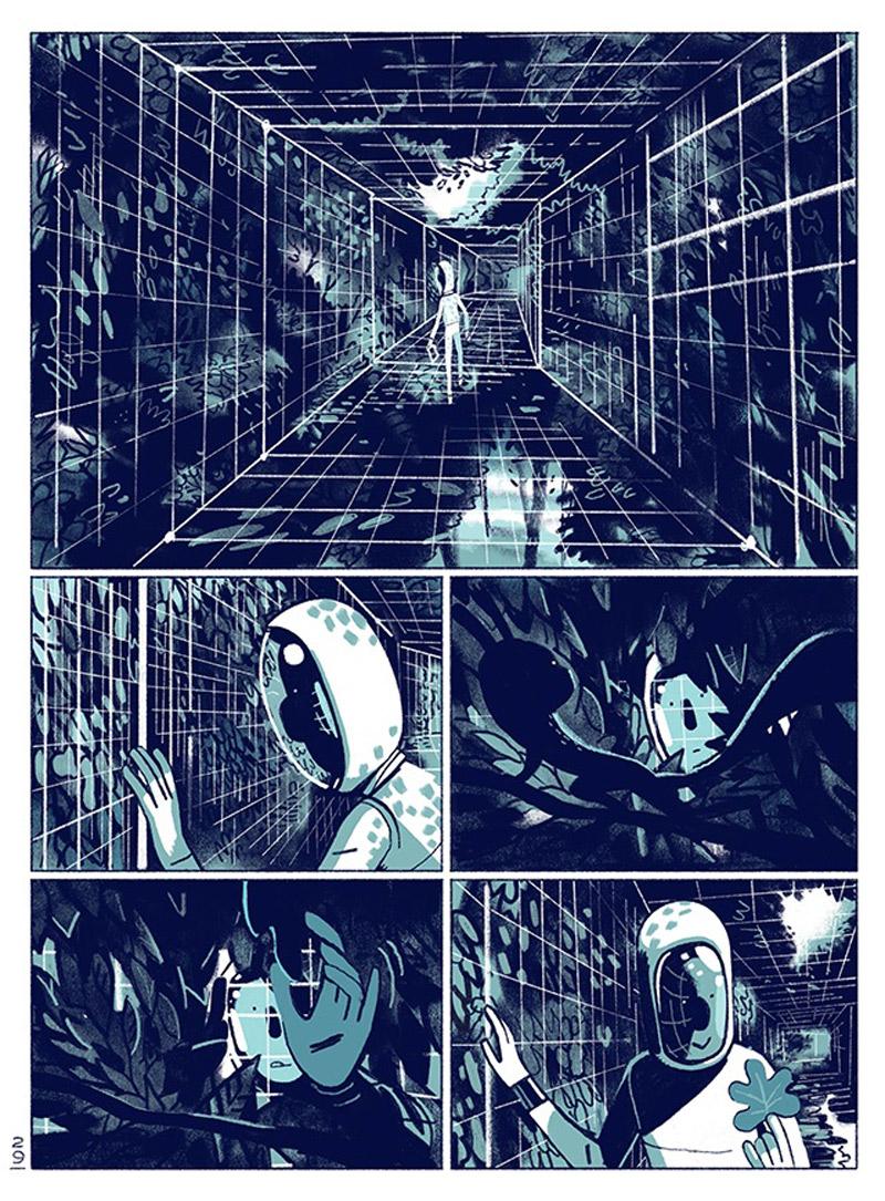 "Szenan aus dem Comic ""Soon"""