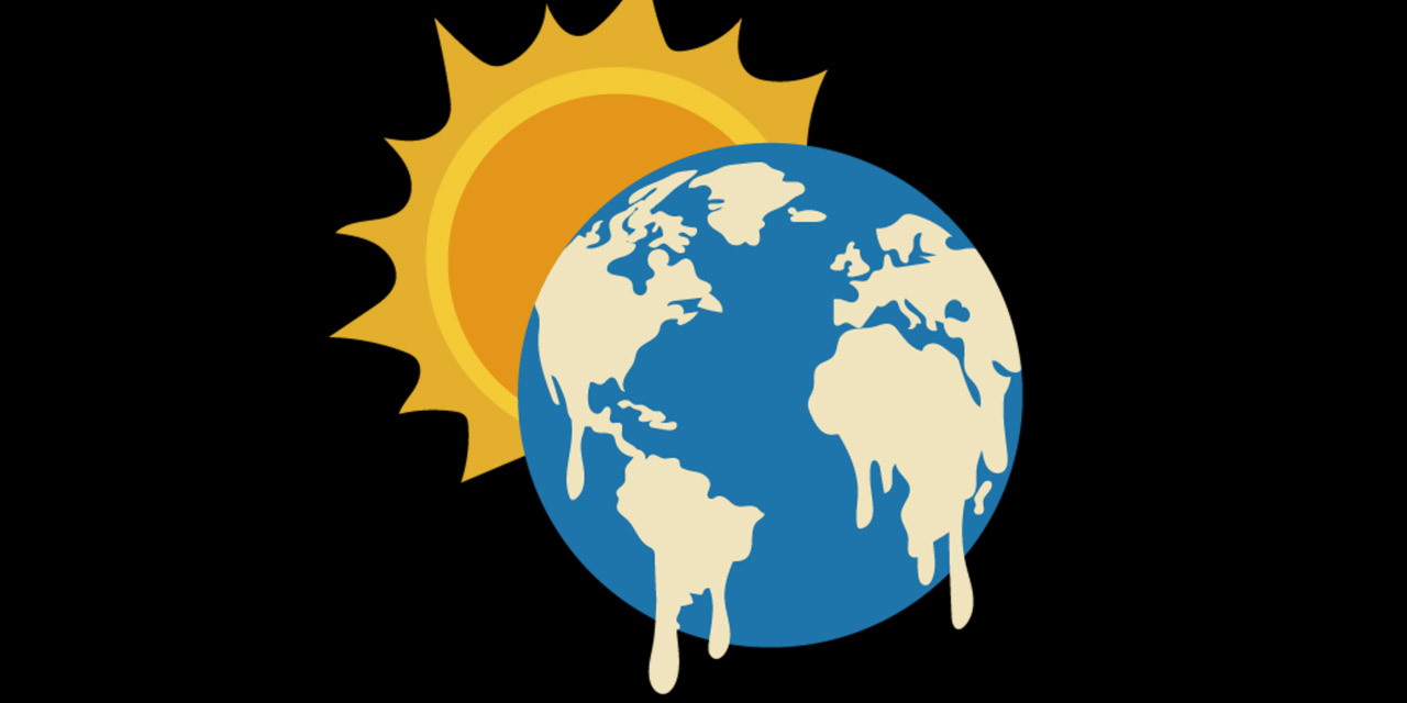 Grafik: Sonne lässt die Kontinente auf der Erdkugel schmelzen