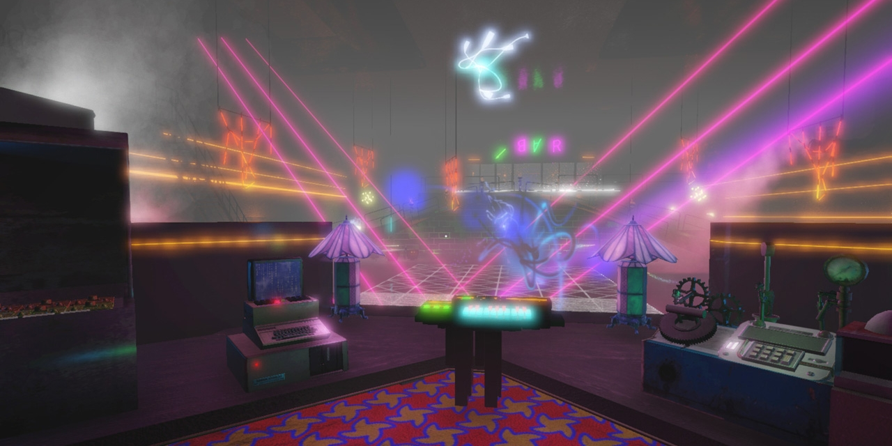 "Screenshot aus dem Game ""Isolationist Nightclub Simulator"""