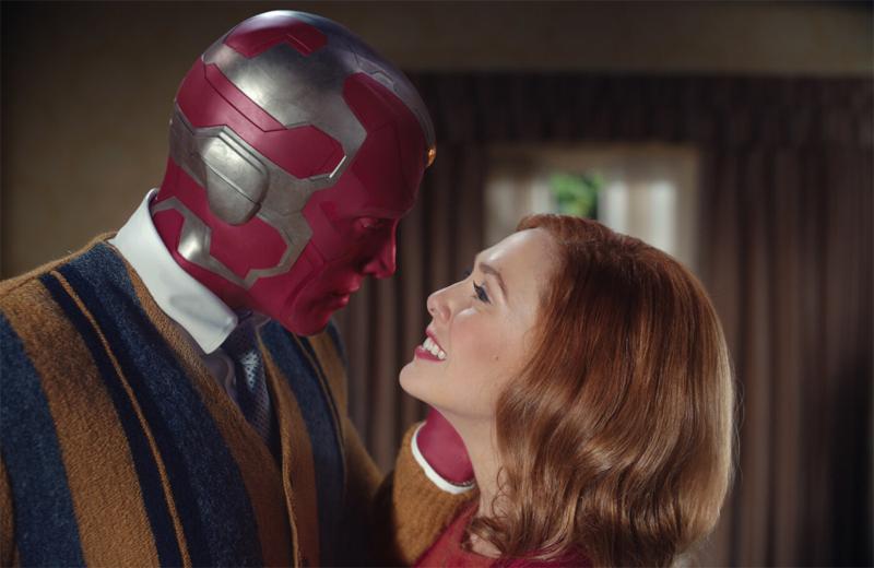 Ein Superheld und eine Frau