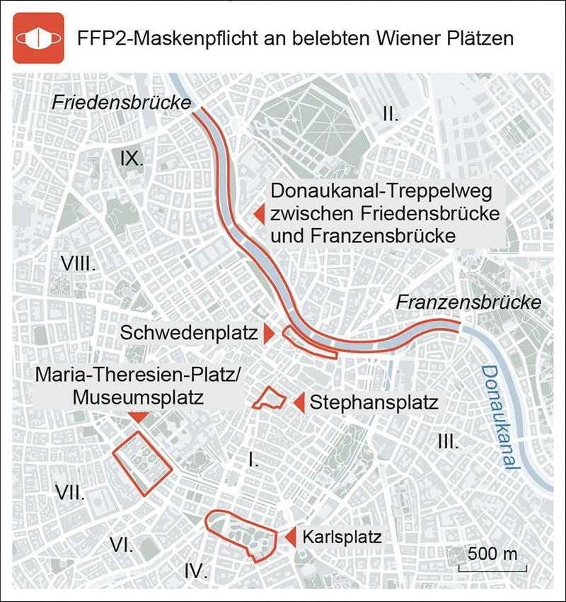Maskenpflicht in Wien