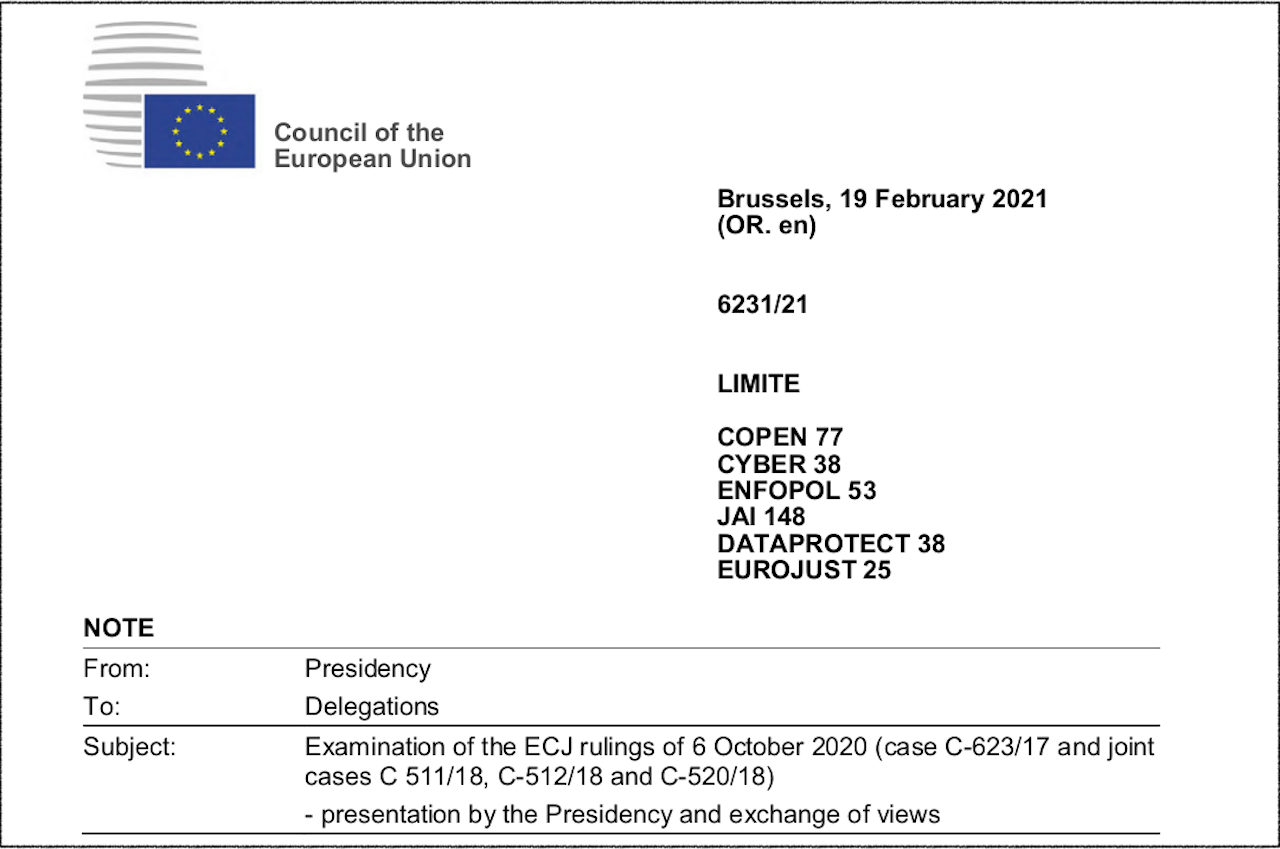 EuGH-Urteil bremst neue Vorratsdatenpläne aus