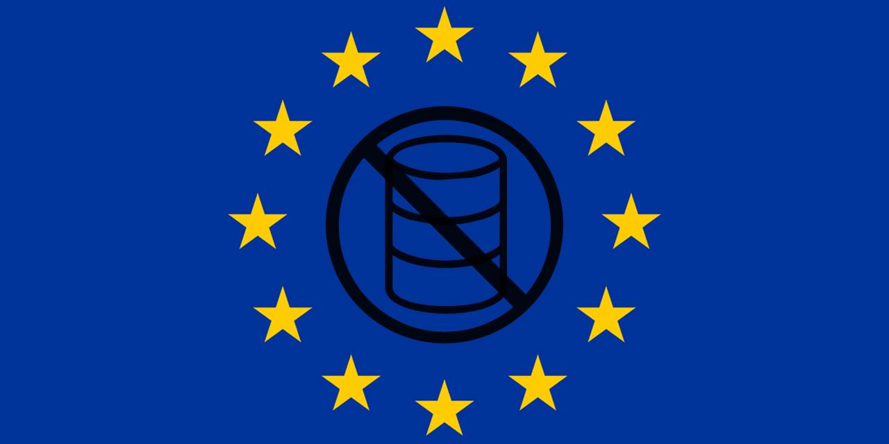EU-Flagge und Datenspeicher