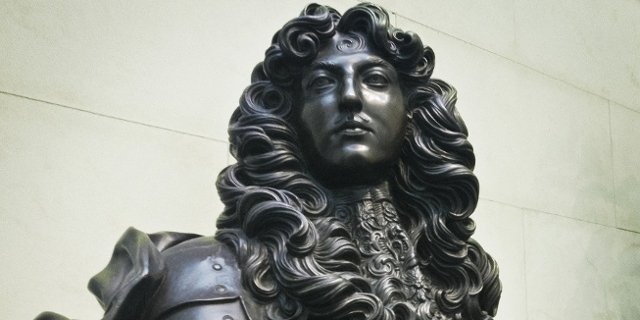 Ludwig XIV Metallstatue