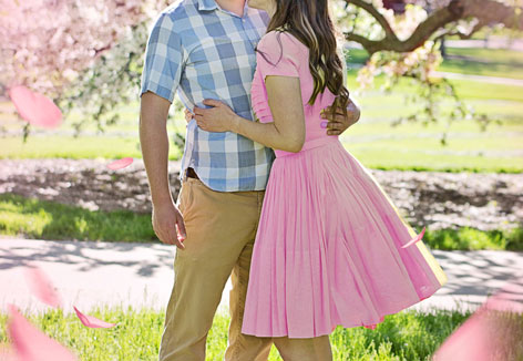 Paar im Frühling