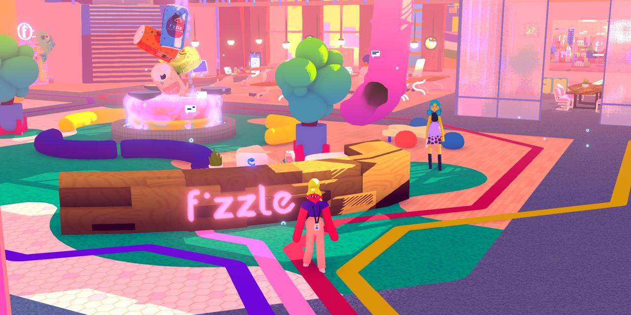 Screenshot des fiktiven Unternehmens Fizzle