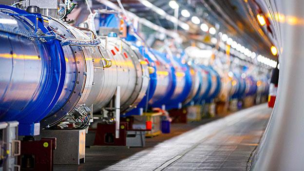 Der Large Hadron Collider im Forschungszentrum CERN in Genf