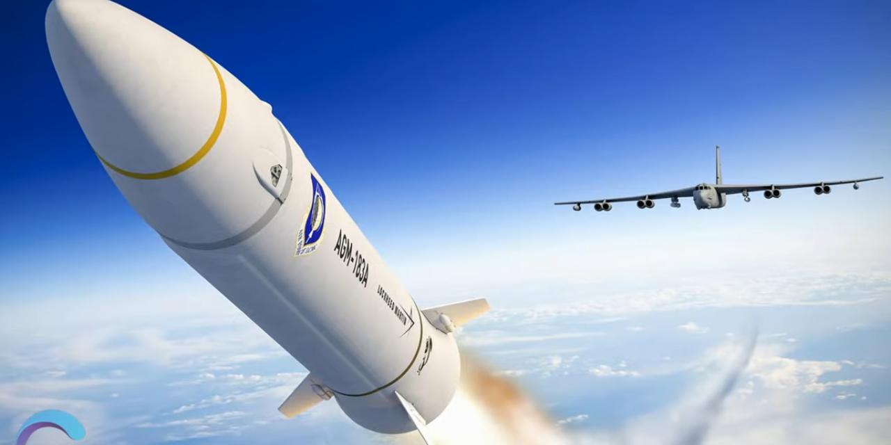 Flugzeug schießt Rakete ab