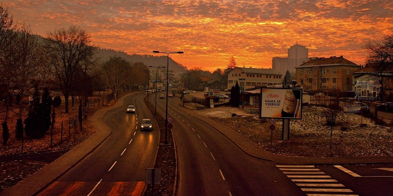 Straße in Bosnien