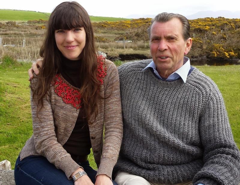 Emilie Pine und ihr Vater