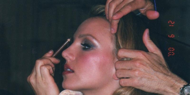 Britney wird geschminkt