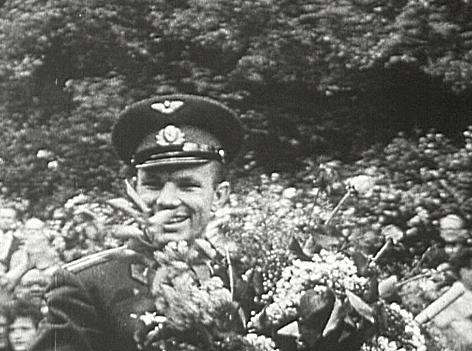 Kosmonaut Juri Gagarin wird geehrt