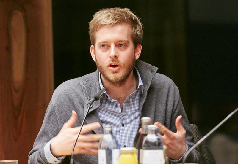 Mathias Huter beim Open Data Day im Parlament