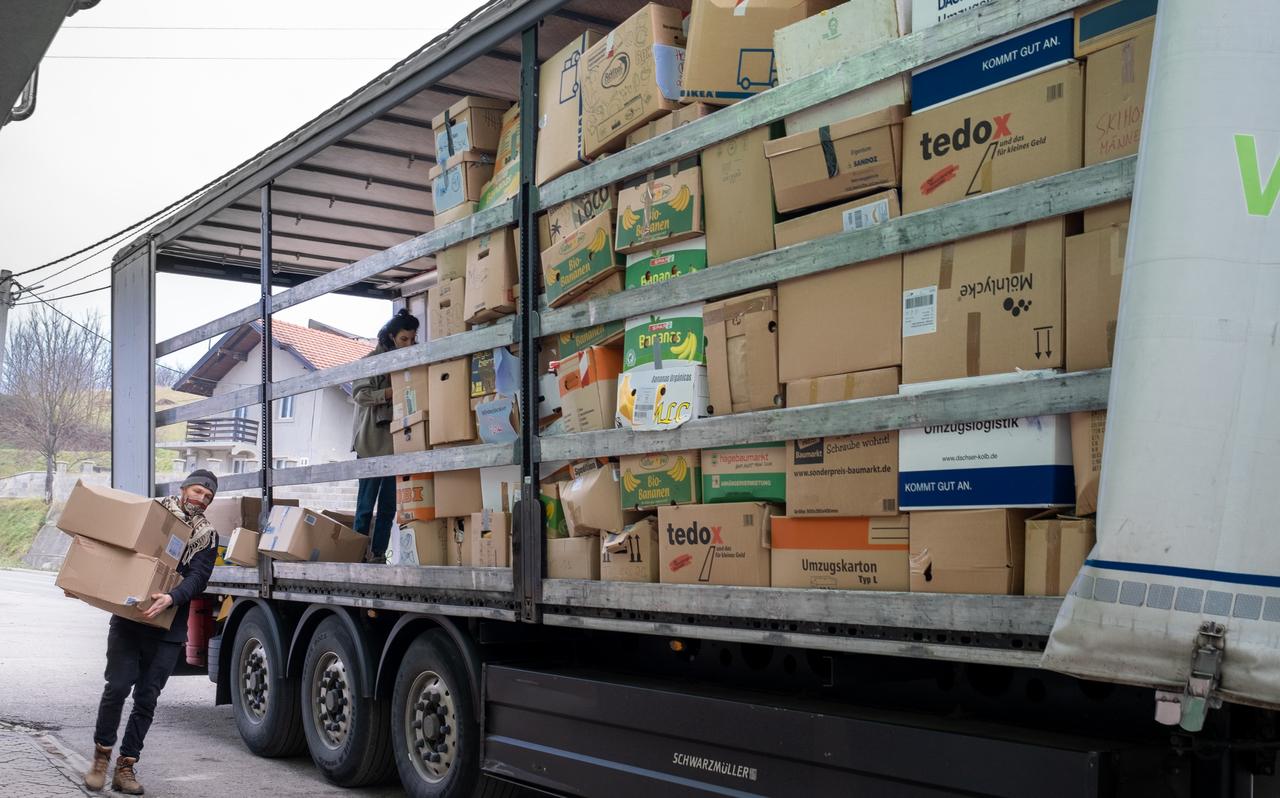 Hilfslieferung von SOS Balkanroute
