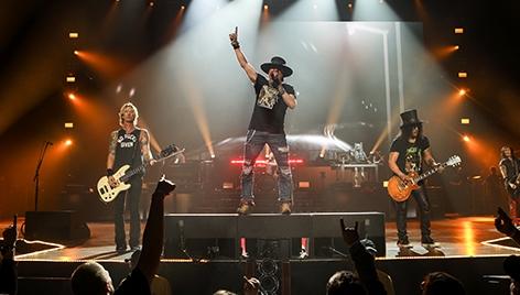 Guns N' Roses auf der Bühne