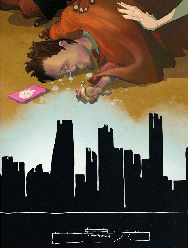 "Bilder aus der Graphic Novel ""Temple of Refuge"""