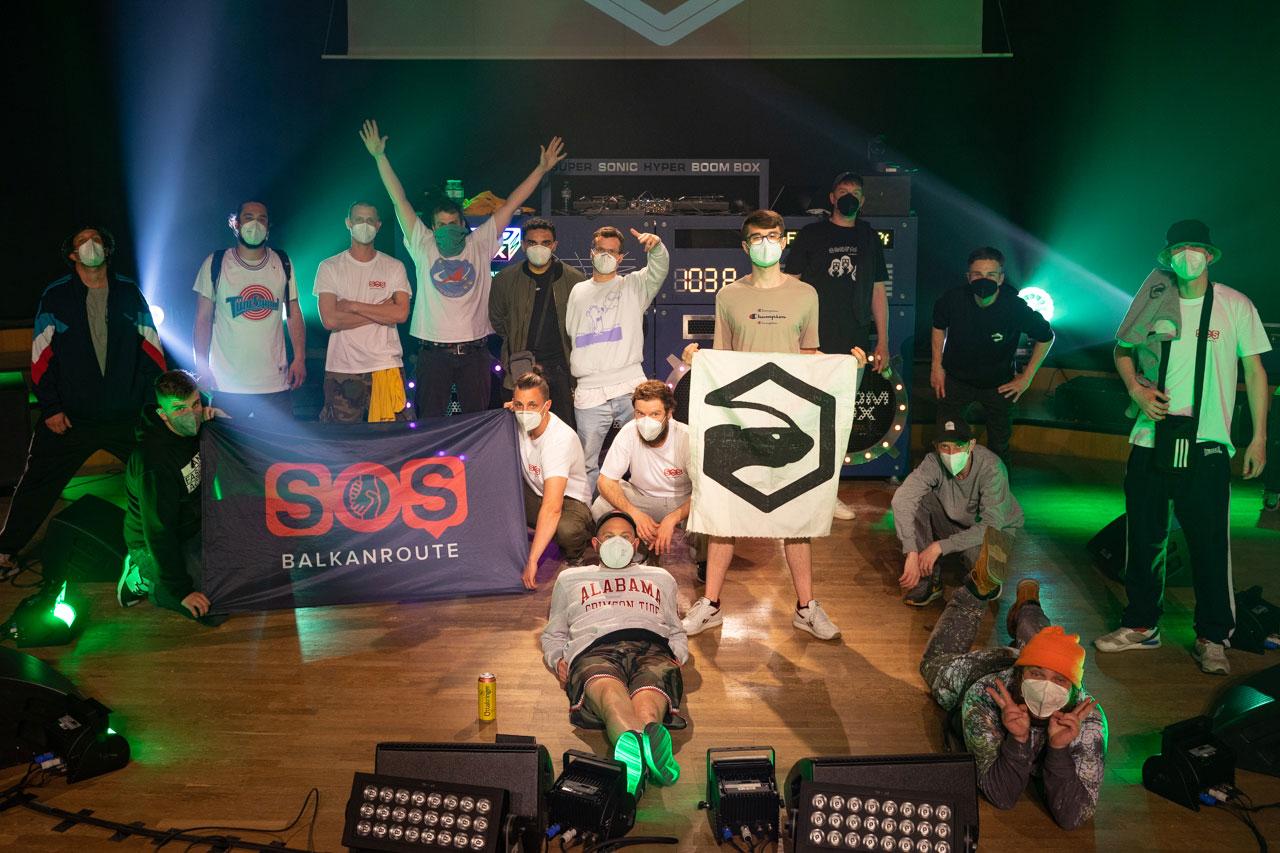 Die Honigdachs Crew bei der FM4 Blockparty