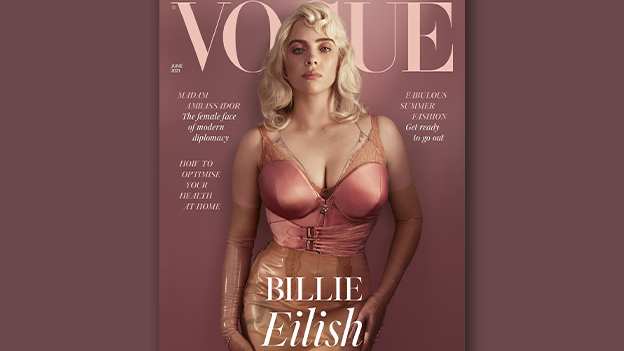 Billie Eilish in Dessous, Korsett und Strapse!