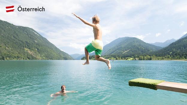 Österreich, Sommerurlaub, See, Baden