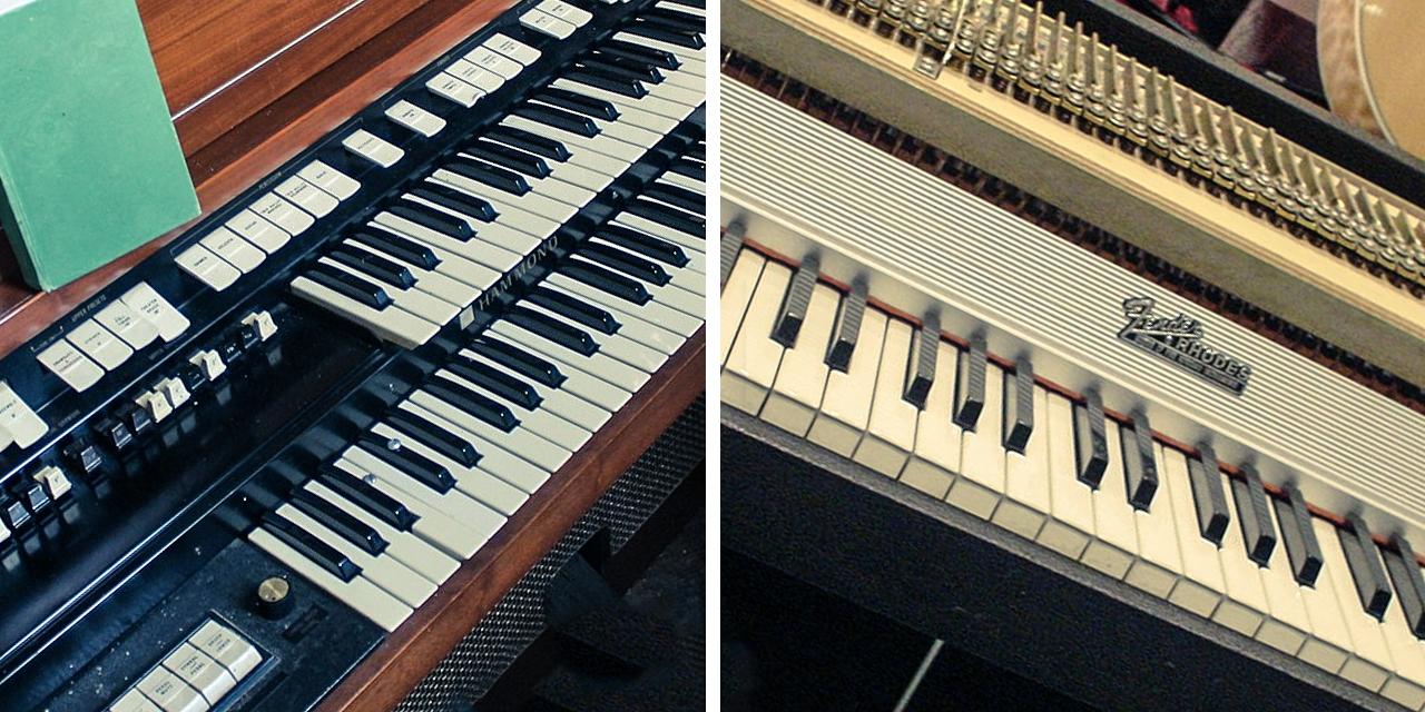 Hammond-Orgel und Fender-Rhodes