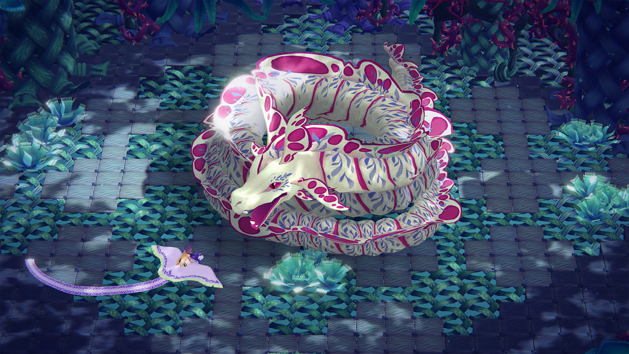 "Bildschirmfoto aus dem Computerspiel ""Weaving Tides"""