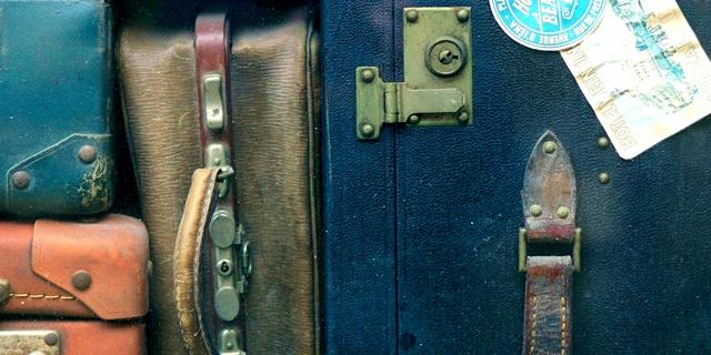 Viele alte Koffer