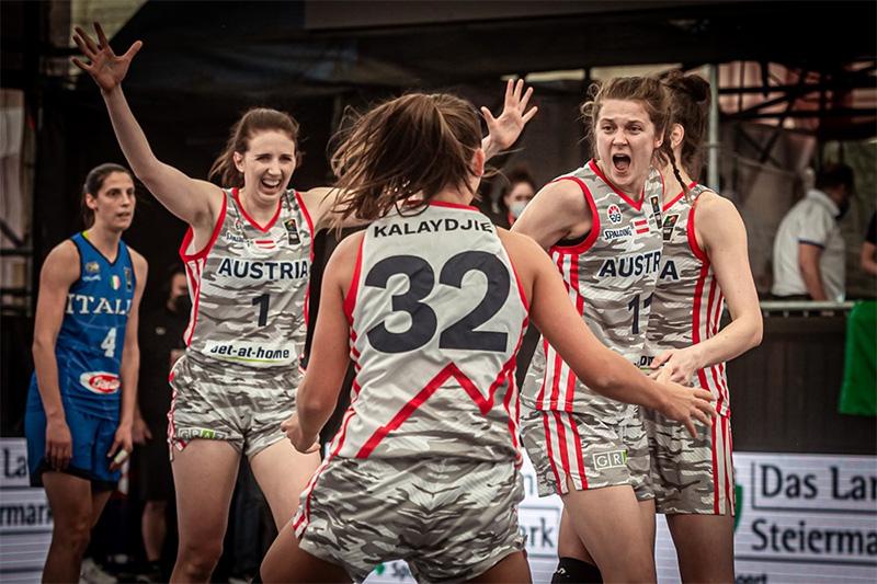 Bilder vom Olympischen Qualifikationsturnier im 3x3-Basketball in Graz