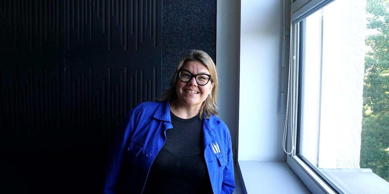 Lilli Hollein beim Besuch im Wiener Funkhaus