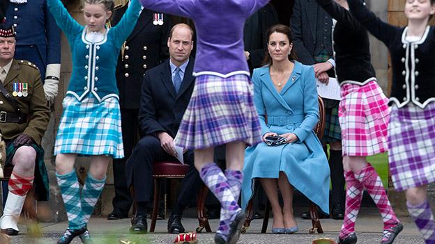 Prinz William und Herzogin Kate in Schottland