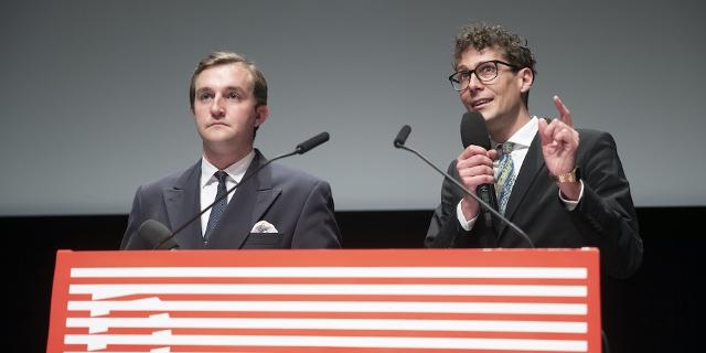 Diagonale 2021 Eröffnung: Diagonale-Intendanten Peter Schernhuber (links) und Sebastian Höglinger.