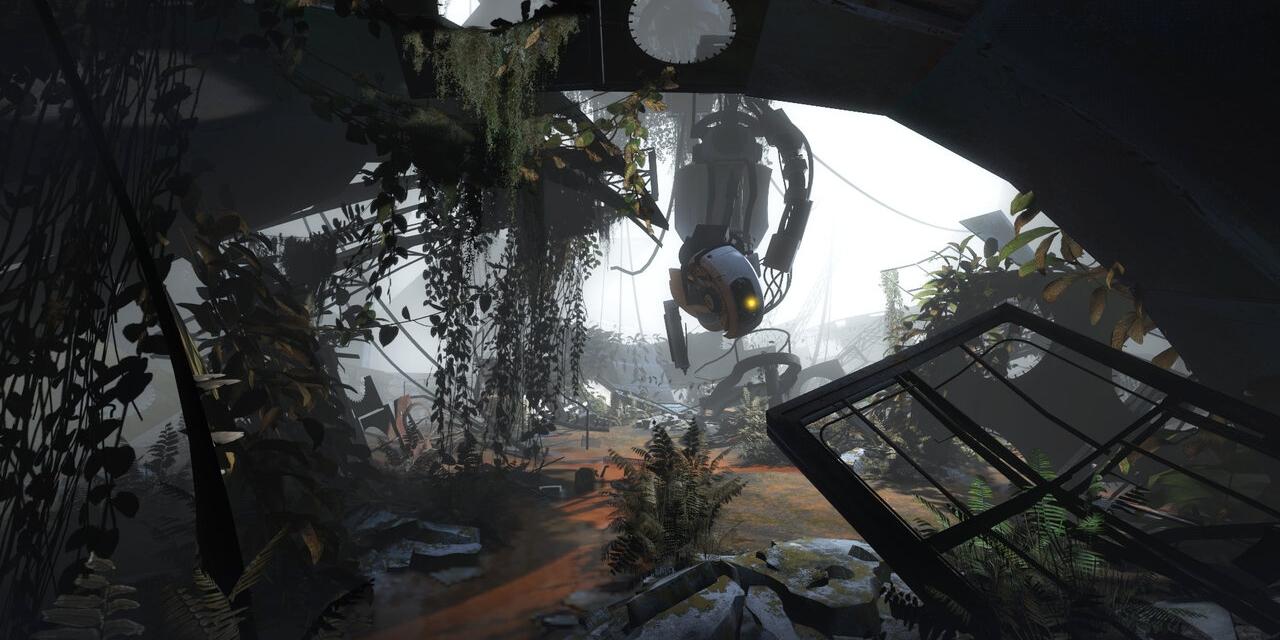 "Bildschirmfoto aus dem Computerspiel ""Portal 2"""