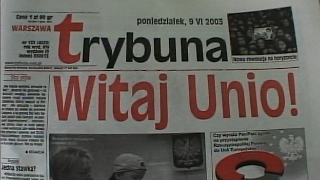 Polen-Referendum pro EU- Zeitung