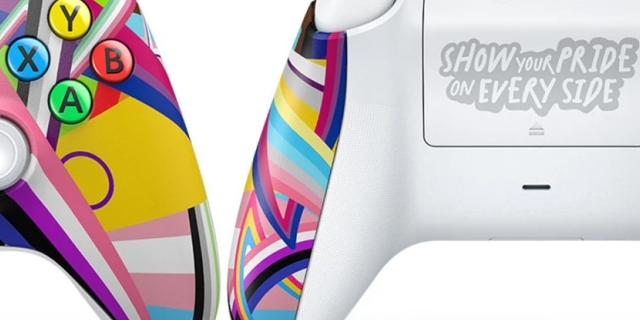 Xbox Game Controller in Regenbogenfarben