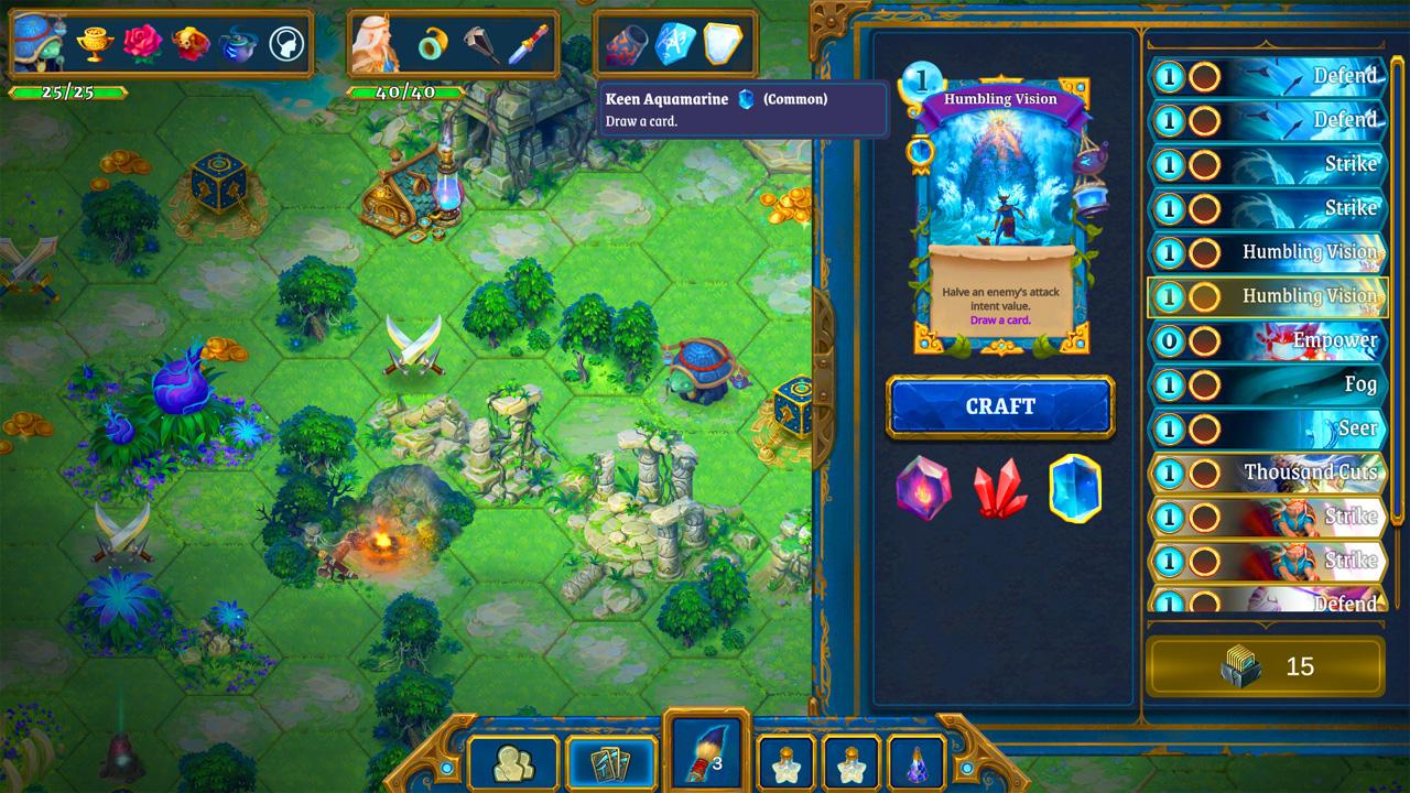 """Bildschirmfoto aus dem Computerspiel """"Roguebook"""""""