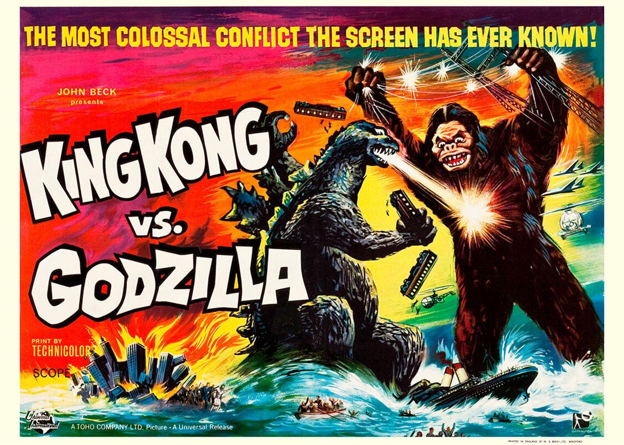 """Historisches Filmplakat von """"King Kong vs. Godzilla"""""""