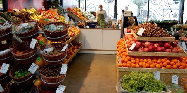 Nobles Geschäft mit Obst