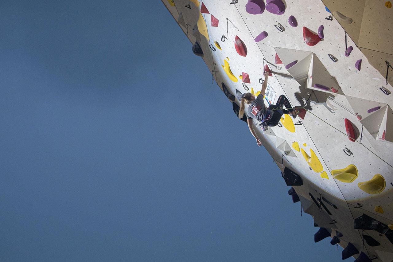 Jessica Pilz klettert in Innsbruck