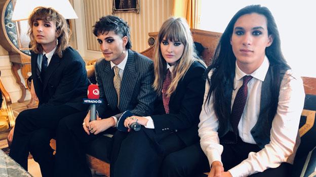 Songcontest-Sieger Maneskin im Ö3-Interview mit Tina Ritschl