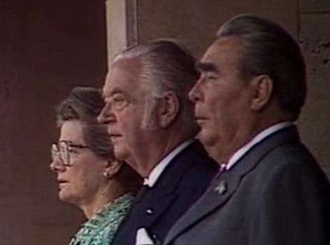 Leonid Breschnew eröffnet Olympische Spiele in Moskau 1980