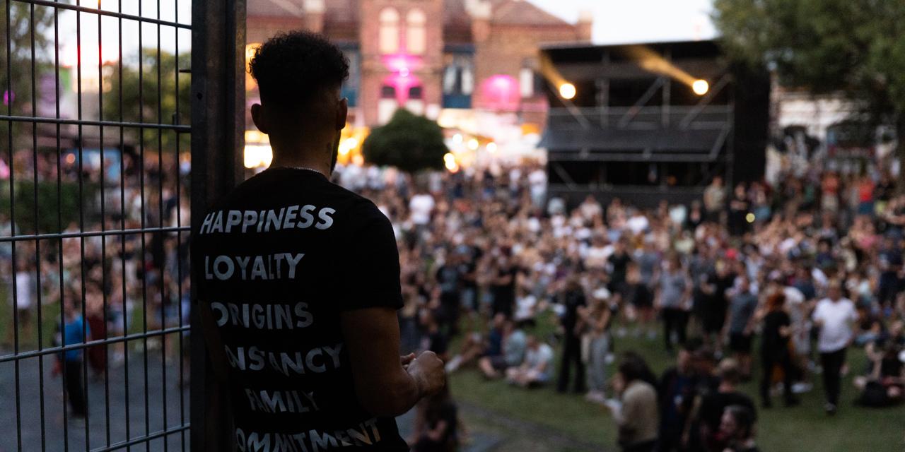 Blick ins Publikum beim Popfest