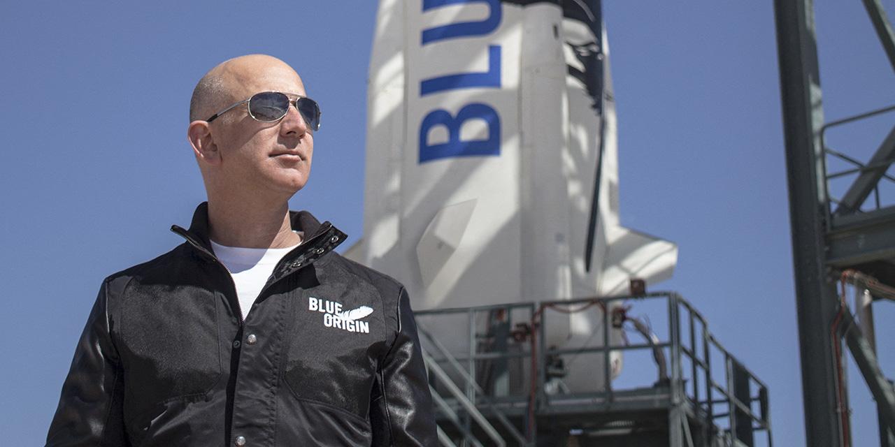 Jeff Bezos und Rakete