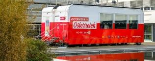 Das mobile Studio vor dem ORF-Zentrum in Wien