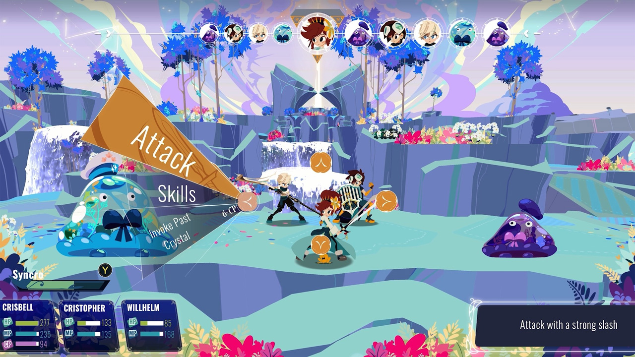 "Screenshot aus dem Computerspiel ""Cris Tales"""