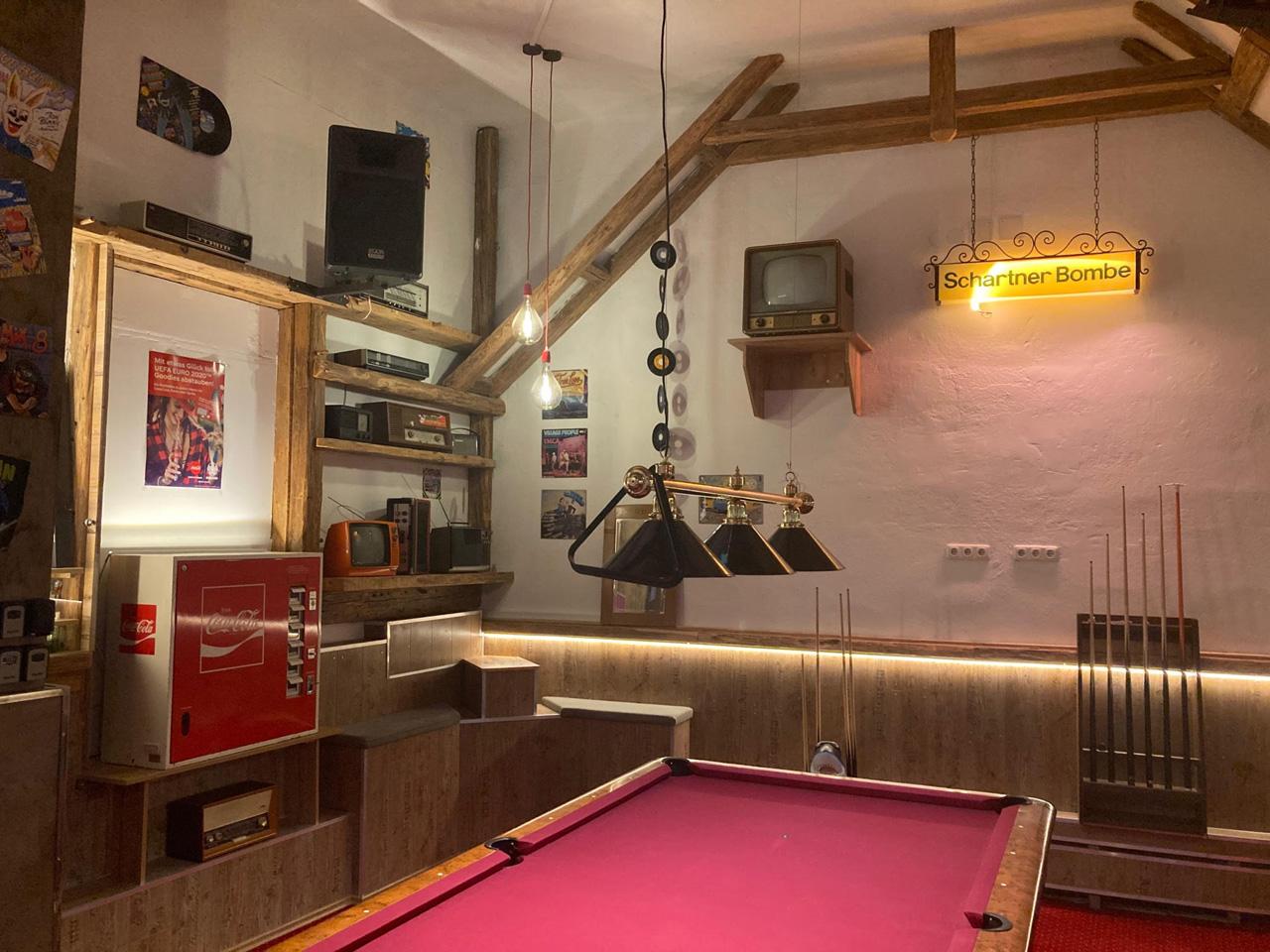 Retro-Spielzimmer im Hahn-Buam-Hof