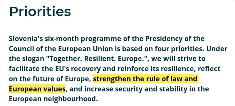 Dokument der Ratspräsidentschaft